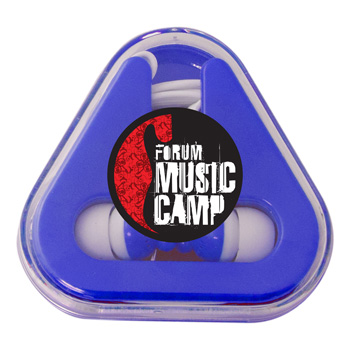 Ear Buds with Colored Triangle Case