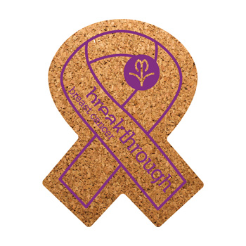 Awareness Ribbon Cork Coaster